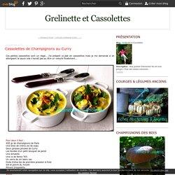 Cassolettes de Champignons au Curry