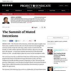 """The Summit of Muted Intentions"" by Jorge G. Castañeda"