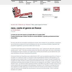 Race, caste et genre en France
