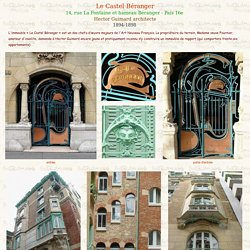Le Castel Béranger d'Hector Guimard