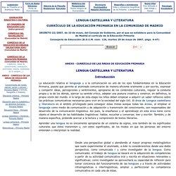 Lengua Castellana y Literatura - Educación Primaria - Comunidad de Madrid