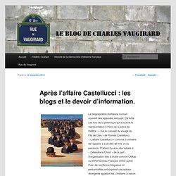 Après l'affaire Castellucci : les blogs et le devoir d'information.