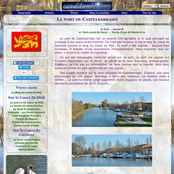Port de Castelsarrasin - Canal de Garonne
