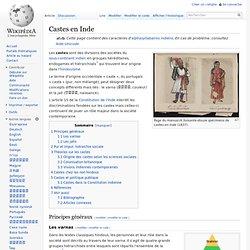 Castes en Inde