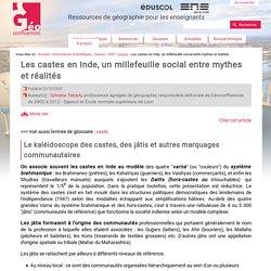 """""""Les castes en Inde"""" Géoconfluences 2007"""