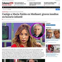 Castigo a María Patiño en Mediaset: graves insultos en horario infantil