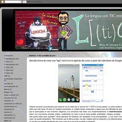 """Sencilla forma de crear una """"app"""" móvil con la agenda del curso a partir del calendario de Google Classroom"""