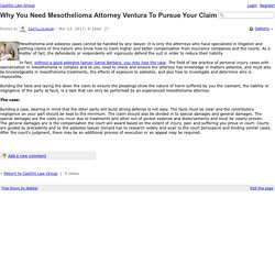 Why You Need Mesothelioma Attorney Ventura To Pursue Your Claim