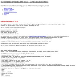 Casting Calls/Auditions