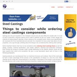 castingfoundry - Steel Castings
