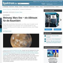 Castingshow: Meinung: Mars One – ein Albtraum für die Raumfahrt