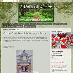 A Path of Paper: Castle Card, Template & Instructions