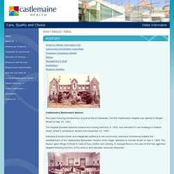 Castlemaine Health » History