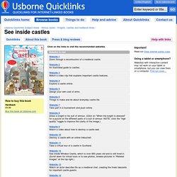"""See inside castles"" in Usborne Quicklinks"