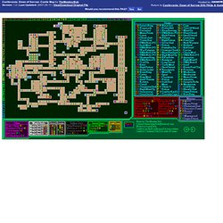 Castlevania: Dawn of Sorrow (DS) Castle Map by TheMonkeyBob