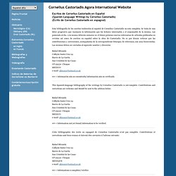 Cornelius Castoriadis Agora International Website