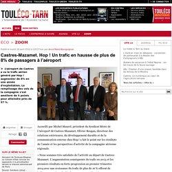 Castres-Mazamet. Hop! Un trafic en hausse de plus de 8% de passagers à l'aéroport - ToulÉco Tarn