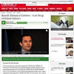 Benoît Hamon à Castres : «Les Scop résistent mieux» - 17/05/2013