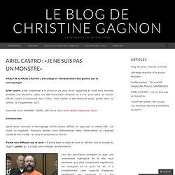 ARIEL CASTRO : «Je ne suis pas un monstre»