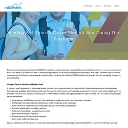 Find Casual Student Jobs Today with miService Job Apps
