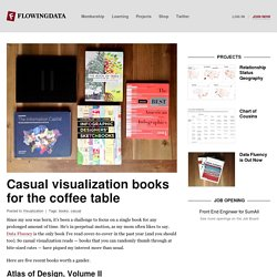 Casual visualization books for the coffee table