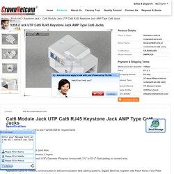 Cat6 Module Jack UTP Cat6 RJ45 Keystone Jack AMP Type Cat6 Jacks