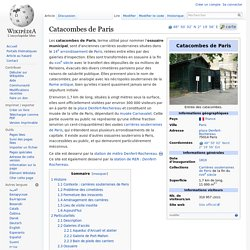 Catacombes de Paris - Wikipédia
