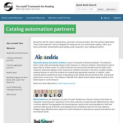 Catalog automation partners