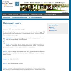 Catalogage (cours)