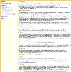 Catalogage : introduction
