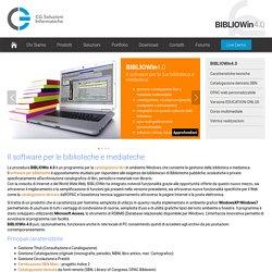catalogazione libri - software gestione biblioteca e sistemi biblioteche - Caratteristiche generali -