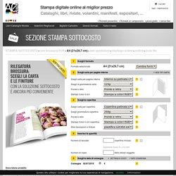 stampa libri e cataloghi rilegati con brossura online A4 (21x29,7 cm)