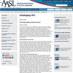 Cataloging 101: