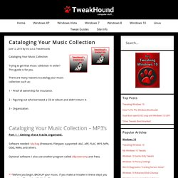 Cataloging Your Music Collection - TweakHound