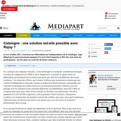 Catalogne : une solution est-elle possible avec Rajoy ?