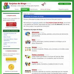 Catálogo: Juegos de Bingo por categoría