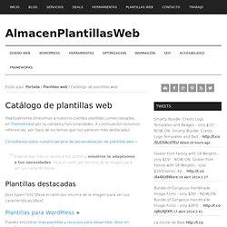 Catálogo de plantillas web