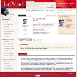 Catalogue - Bibliothèque de la Pléiade - George Orwell, Œuvres
