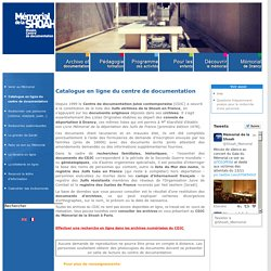 Catalogue en ligne du centre de documentation