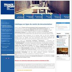Catalogue en ligne du centre de documentation