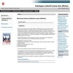 Catalogue collectif suisse des affiches