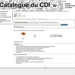 Catalogue PMB S@nd