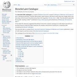 Herschel 400 Catalogue