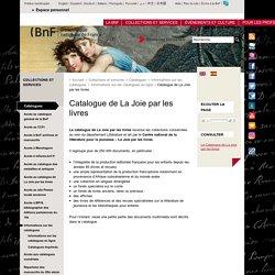 Catalogue de La Joie par les livres
