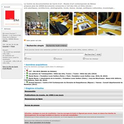 Carré d'Art, Nîmes : catalogue du centre de documentation