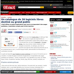 L'April publie un catalogue de 26 logiciels libres destiné au grand public