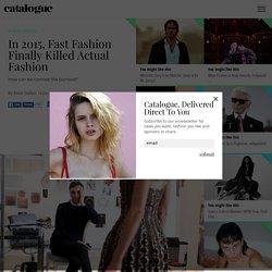 CATALOGUE MAGAZINE - Your fashion, beauty, design and music magazine
