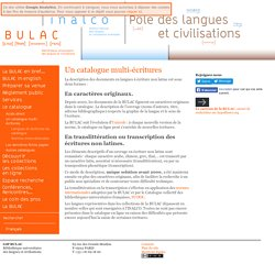 Un catalogue multi-écritures