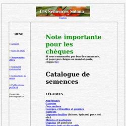 Catalogue - Semences Solana