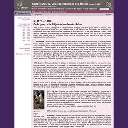 Gustave Moreau. Catalogue sommaire des dessins (dessins 1 - 4830) - Biographie de Gustave Moreau